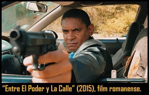 M2) Diapositiva promocional del personaje interpretado en lacinta romanense Entre El Poder y LaCalle de Larry Moreta (2015)